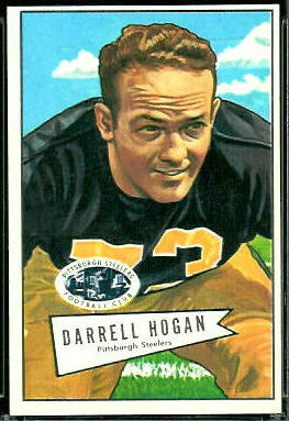 Darrell Hogan 1952 Bowman Large football card
