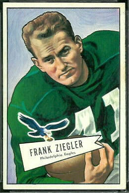 Frank Ziegler 1952 Bowman Large football card