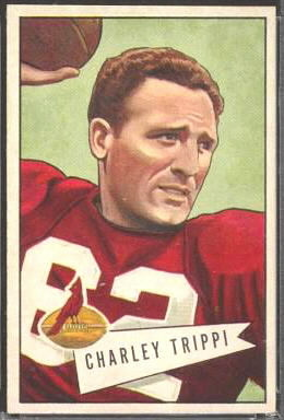 Charley Trippi 1952 Bowman Large football card