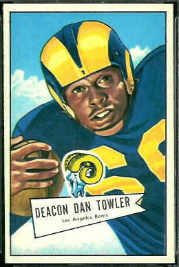 Dan Towler 1952 Bowman Large football card
