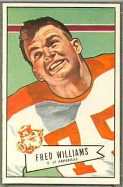 Fred Williams 1952 Bowman Large football card