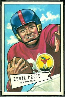 Eddie Price 1952 Bowman Large football card