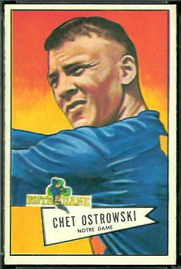 Chet Ostrowski 1952 Bowman Large football card