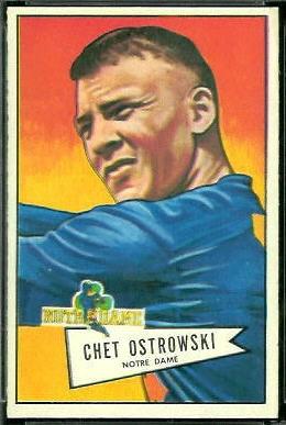 Chet Ostrowski 1952 Bowman Large football card