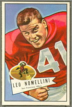 Leo Nomellini 1952 Bowman Large football card