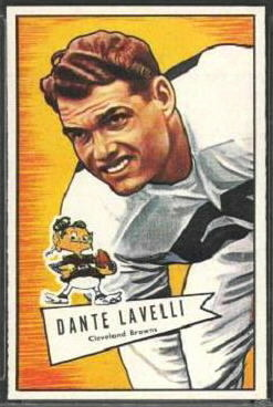 Dante Lavelli 1952 Bowman Large football card