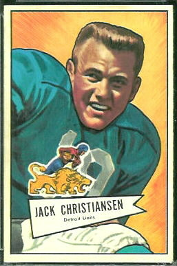 Jack Christiansen 1952 Bowman Large football card