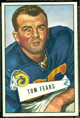Tom Fears 1952 Bowman Large football card