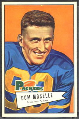 Dom Moselle 1952 Bowman Large football card