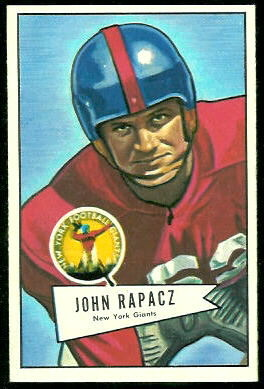 John Rapacz 1952 Bowman Large football card