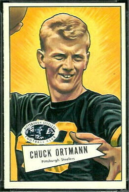 Chuck Ortmann 1952 Bowman Large football card