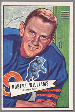 Bob Williams 1952 Bowman Large football card