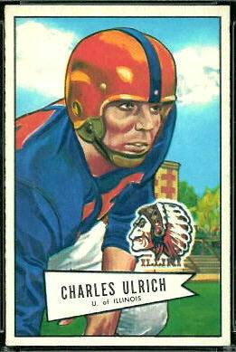 Chuck Ulrich 1952 Bowman Large football card