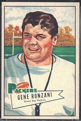 Gene Ronzani 1952 Bowman Large football card