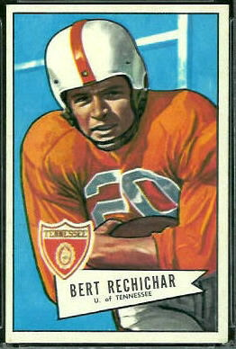 Bert Rechichar 1952 Bowman Large football card