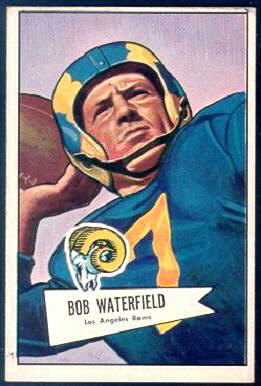 Bob Waterfield 1952 Bowman Large football card