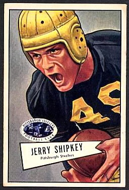 Jerry Shipkey 1952 Bowman Large football card