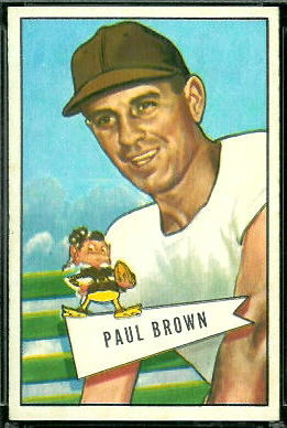 Paul Brown 1952 Bowman Large football card