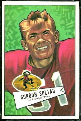 Gordon Soltau 1952 Bowman Large football card