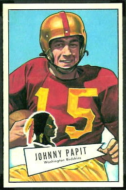 John Papit 1952 Bowman Large football card