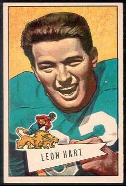 Leon Hart 1952 Bowman Large football card