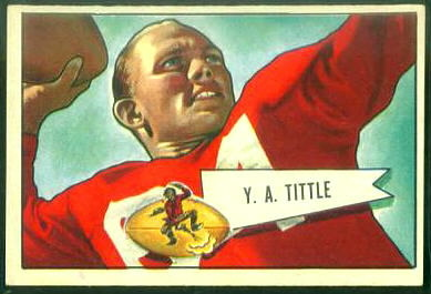 Y.A. Tittle 1952 Bowman Large football card