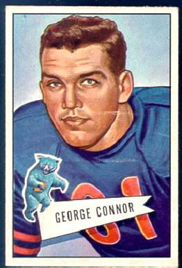 George Connor 1952 Bowman Large football card