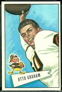 Otto Graham 1952 Bowman Large football card