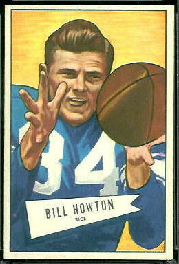 Bill Howton 1952 Bowman Large football card