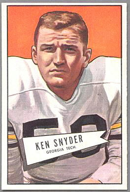 Ken Snyder 1952 Bowman Large football card