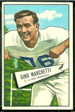 Gino Marchetti 1952 Bowman Large football card