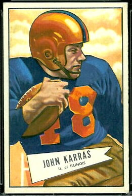 John Karras 1952 Bowman Large football card