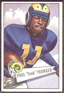 Tank Younger 1952 Bowman Large football card