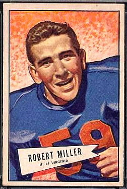 Bob Miller 1952 Bowman Large football card