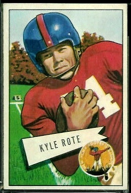 Kyle Rote 1952 Bowman Large football card