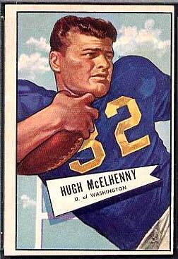 Hugh McElhenny 1952 Bowman Large football card