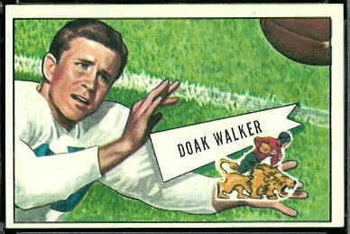 Doak Walker 1952 Bowman Large football card