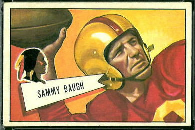 Sammy Baugh 1952 Bowman Large football card
