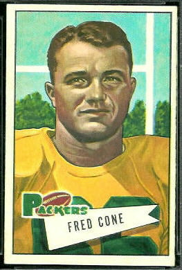 Fred Cone 1952 Bowman Large football card