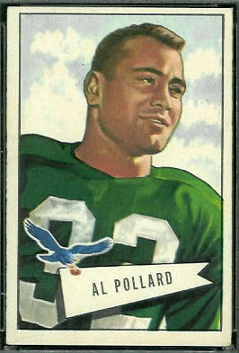 Al Pollard 1952 Bowman Large football card