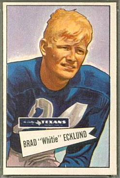 Brad Ecklund 1952 Bowman Large football card
