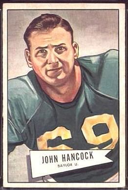 John Lee Hancock 1952 Bowman Large football card