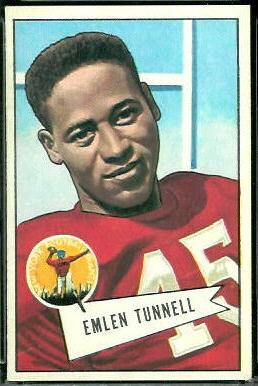 Emlen Tunnell 1952 Bowman Large football card