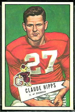 Claude Hipps 1952 Bowman Large football card