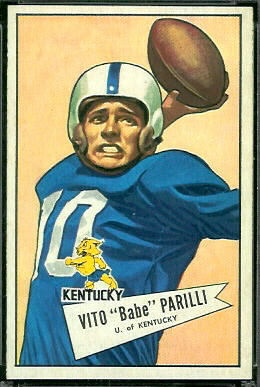 Babe Parilli 1952 Bowman Large football card