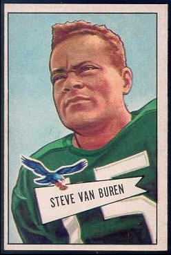 Steve Van Buren 1952 Bowman Large football card