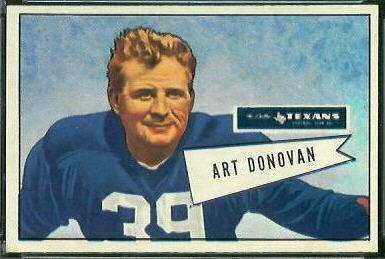 Art Donovan 1952 Bowman Large football card