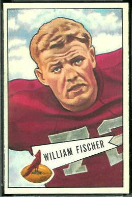 Bill Fischer 1952 Bowman Large football card