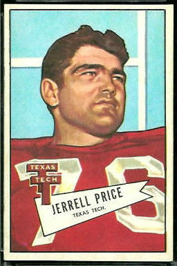 Jerrell Price 1952 Bowman Large football card