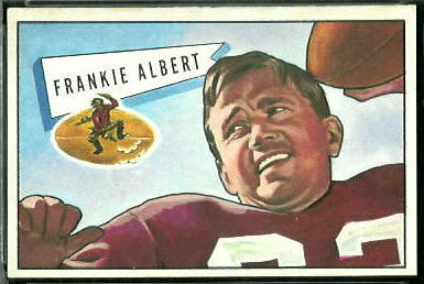 Frankie Albert 1952 Bowman Large football card